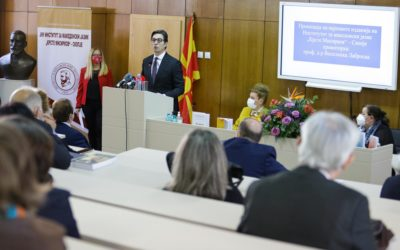 "President Pendarovski from the Macedonian Language Institute ""Krste Misirkov"": The scientific arguments and the truth are on our side and no reasonable person can give them up"