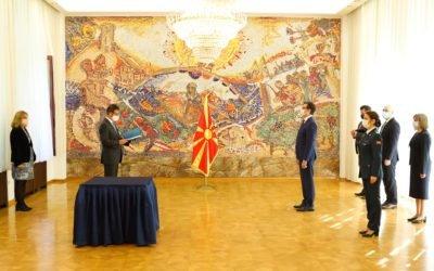 Претседателот Пендаровски ги прими акредитивните писма на новоименуваните амбасадори на Кралството Белгија и на Кралството Данска