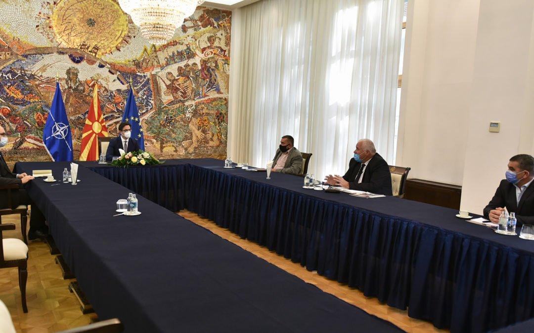 Средба на претседателот Пендаровски со претставници на Македонската горанска заедница