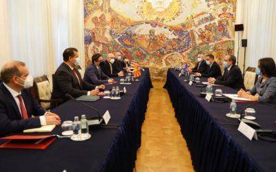 President Pendarovski meets with Kosovo Prime Minister Avdullah Hoti