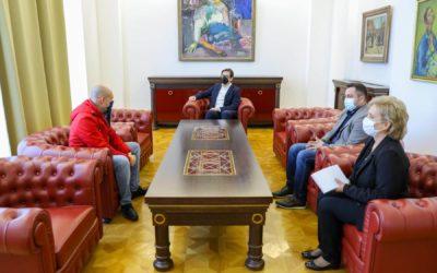 President Pendarovski meets with the humanitarian Ali Fevzi