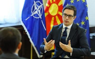 """Интервју на претседателот Пендаровски за емисијата """"Трилинг"""", на ТВ24"""