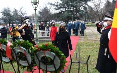 """Делегација од Кабинетот на Претседателот положи цвеќе по повод """"Св. Климент Охридски"""""""