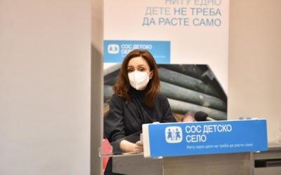 """Сопругата на претседателот, Елизабета Ѓоргиевска по втор пат покровител на настанот """"Едно семејство"""" на СОС Детско село"""