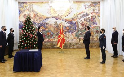 Претседателот Пендаровски ги прими акредитивните писма на новоименуваните амбасадори на Грузија и на Република Казахстан