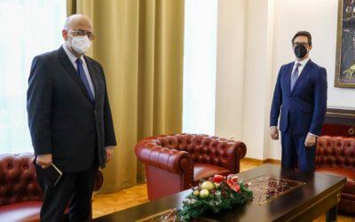 Проштална средба на претседателот Пендаровски со грчкиот амбасадор Јанакакис