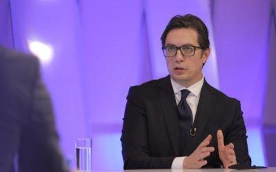 Интервју на претседателот Пендаровски за првиот програмски сервис на МТВ