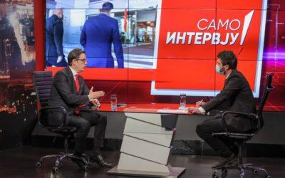 """Интервју на претседателот Пендаровски за емисијата """"Само интервју"""" на Канал 5 телевизија"""