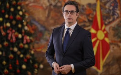 Fjalimi i Presidentit Pendarovski me rastin e festave të Vitit të Ri!