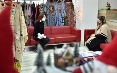Средба на сопругата на претседателот Ѓоргиевска со дизајнерката Сара Реџиќ