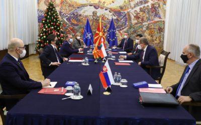 Средба на претседателот Пендаровски со амбасадорите на земјите од Вишеградската група