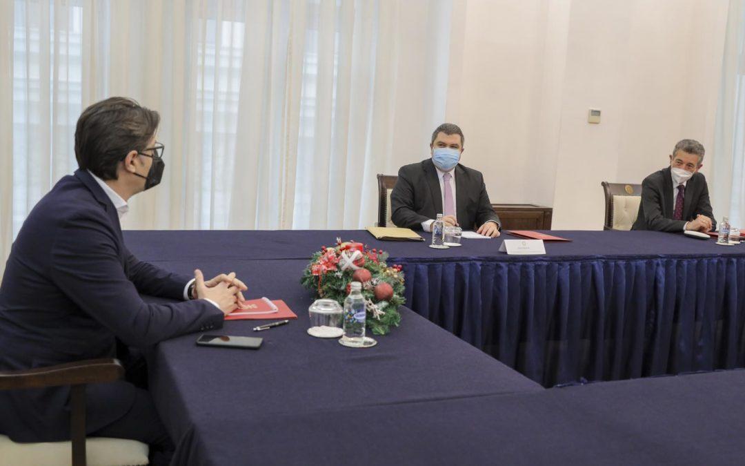 Средба на претседателот Пендаровски со министерот за правда и директорот на Државниот завод за статистика