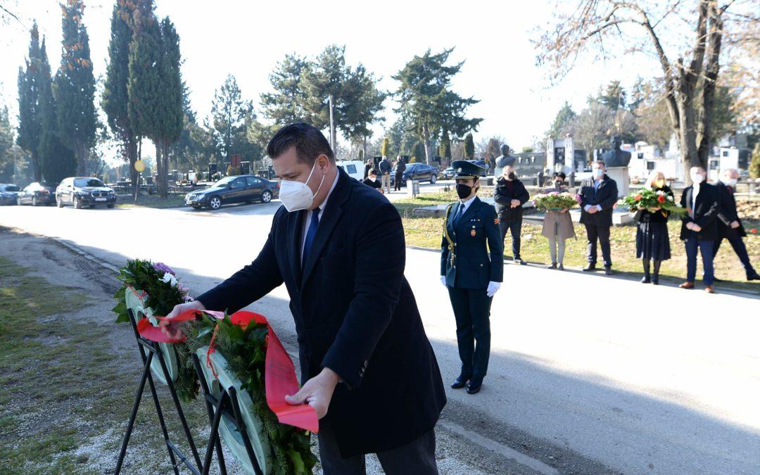 Одбележани 9 години од смртта на претседателот Глигоров