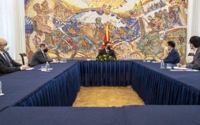 Средба на претседателот Пендаровски со амбасадорот на Народна Република Кина, Џанг Ѕуо