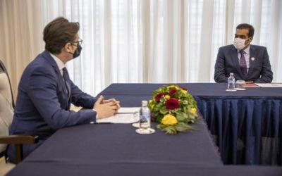 Претседателот Пендаровски го прими вршителот на должност во Амбасадата на Државата Катар, шеик Јасим бин Хамад Ал-Тани