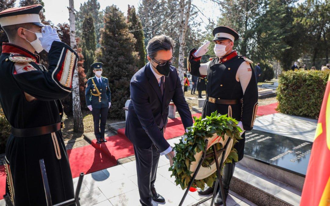 Одбележување на 17-годишнината од загинувањето на претседателот Борис Трајковски и членовите на делегацијата