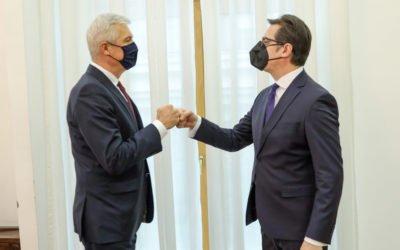 Средба на претседателот Пендаровски со министерот за надворешни и европски работи на Република Словачка, Иван Корчок