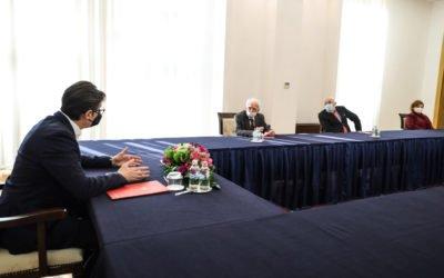 Средба на претседателот Пендаровски со претставници на Главниот одбор на Сојузот на борците од НОАВМ 1941-1945