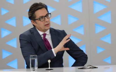 """Интервју  на претседателот Стево Пендаровски за """"24 Отворено"""" на Телевизија 24"""