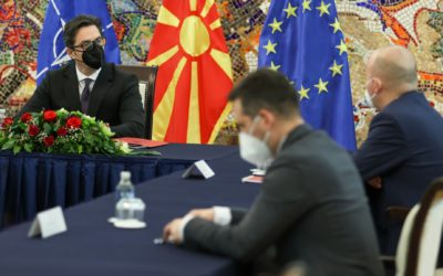 President Pendarovski meets with Ilhan Kyuchyuk, Rapporteur for the Republic of North Macedonia in the European Parliament