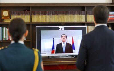 Предавање на акредитивните писма од страна на Ситонг Читнхотинх, новоименуван амбасадор на Лаос за Северна Македонија