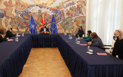 """Средба на претседателот Пендаровски со претставници на """"Полио Плус"""""""