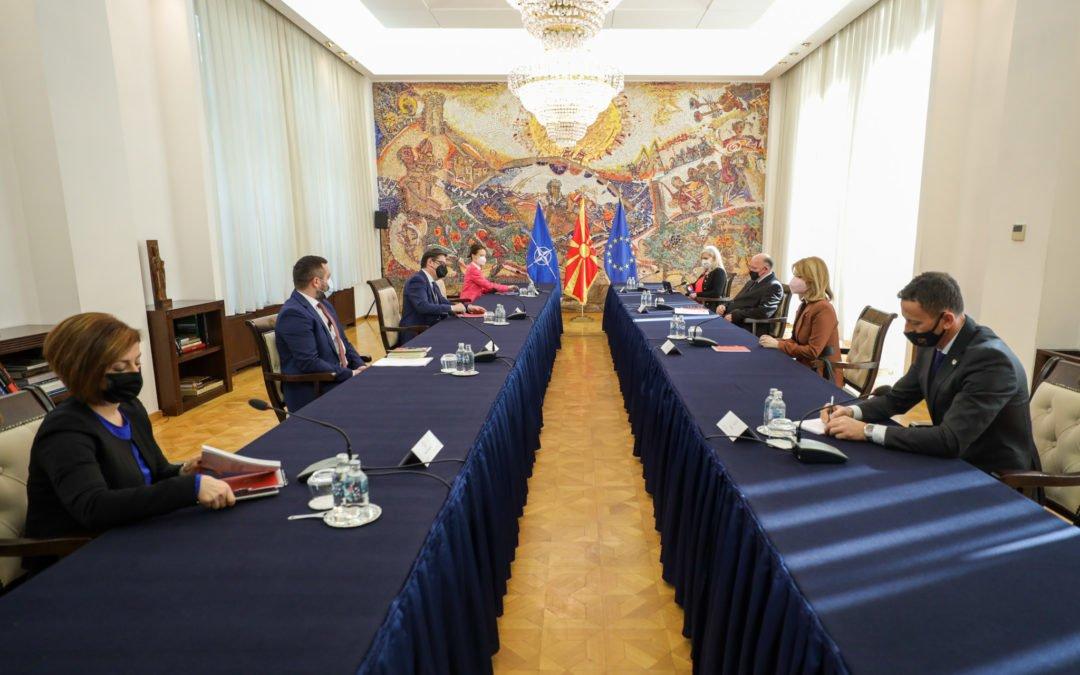 Средба на претседателот Пендаровски со стопанските комори од Платформата за јавно-приватен дијалог