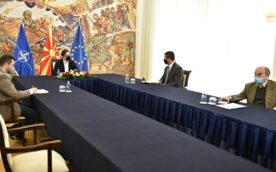 Средба на претседателот Пендаровски со в.д. директорот на Агенцијата за енергетика, Дарио Николовски