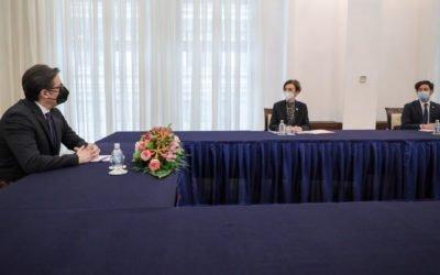 Средба на претседателот Пендаровски со шведската амбасадорка Кристин Форсгрен Бенгтсон