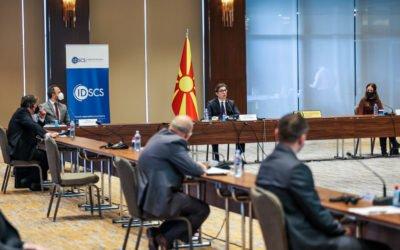"""Претседателот Пендаровски на конференција """"Подобрен капацитет за превенција на несреќи и управување со кризи на локално ниво"""""""