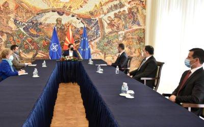 Средба на претседателот Пендаровски со Сојузот на турски невладини организации во Македонија – МАТУСИТЕБ