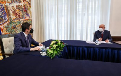 President Pendarovski meets with the Austrian Ambassador Voutsas