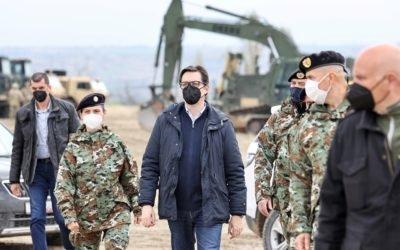 "Presidenti Pendarovski e vizitoi Poligonin e Armatës ""Krivollak"""