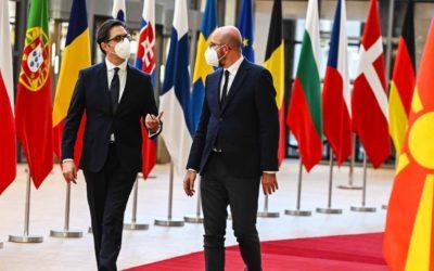 Средба на претседателот Пендаровски со Шарл Мишел, претседател на Европскиот Совет