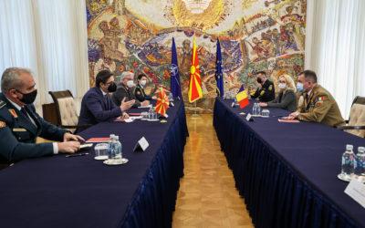 Средба на претседателот Пендаровски со Началникот на Генералштабот на Вооружените сили на Романија, генерал-потполковник Даниел Петреску