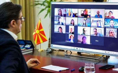 Средба на претседателот Пендаровски со претставници на Асоцијацијата на независната културна сцена – ЈАДРО