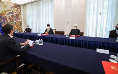 President Pendarovski meets with the leaders and representatives of the religious communities