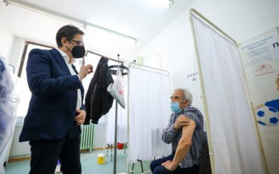 President Pendarovski visits Stip: Citizens to be vaccinated in large numbers