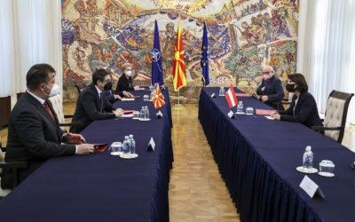 Takimi me KarolineEdshtadler, Ministrja federale për Bashkimin Evropian dhe Kushtetutë të Republikës së Austrisë