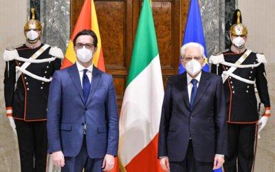 Средба на претседателот Пендаровски со италијанскиот претседател Серџо Матарела