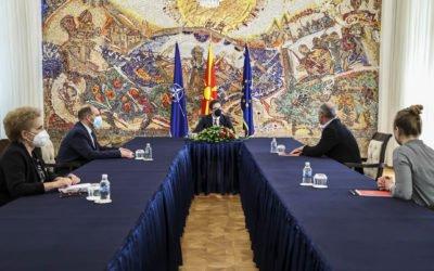 Takimi i Presidentit Pendarovski me Andreas Shider, eurodeputet dhe bashkëkryesues i Komitetit të Përzier Parlamentar BE – Republika e Maqedonisë së Veriut