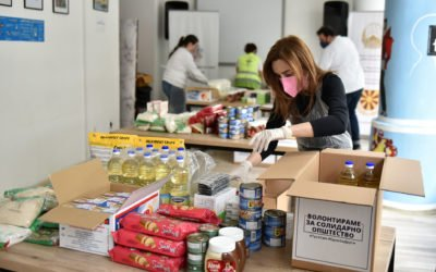 "The Wife of the President, Elizabeta Gjorgievska, participates in activity within ""We Volunteer for a Solidarity Society"" project"