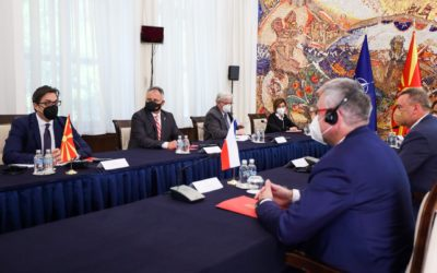 Претседателот Пендаровски го прими министерот за одбрана на Чешката Република, Лубомир Метнар