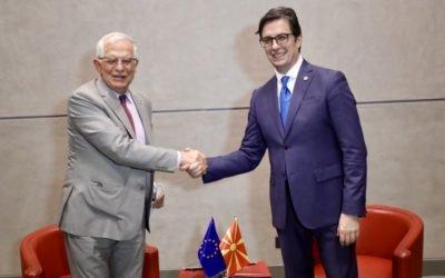 Средба на претседателот Пендаровски со потпретседателот на Европската Комисија и Висок претставник за надворешна и безбедносна политика на Европската Унија, Жозеп Борел