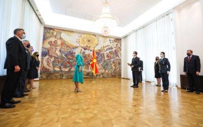 President Pendarovski receives credentials of newly appointed Serbian Ambassador Nevena Jovanovic