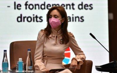 """Обраќање на сопругата на претседателот на настанот """"Телесната автономија – основа на човековите права"""""""