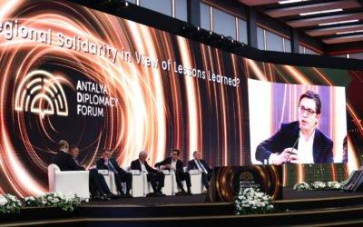 Учество на претседателот Пендаровски на Анталија дипломатскиот форум
