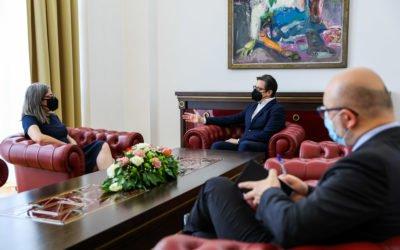 Средба на претседателот Пендаровски со португалската амбасадорка Мариа Вирџиниа Мендес да Силва Пина