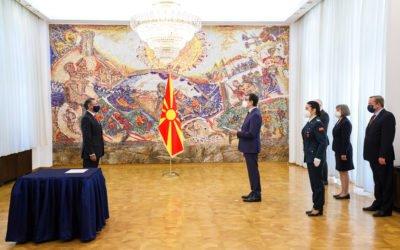 Претседателот Пендаровски ги прими акредитивните писма на новоименуваните амбасадори на Кипар и на Иран