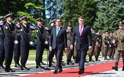 Започна официјалната посета на претседателот Пендаровски на Република Хрватска